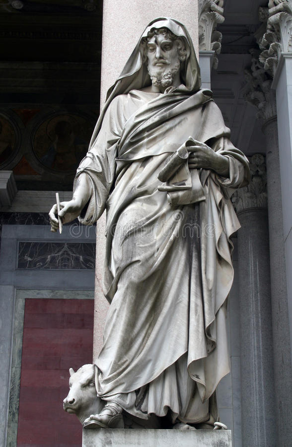 Saint Luke the Evangelist. Statue of Saint Luke the Evangelist royalty free stock photography