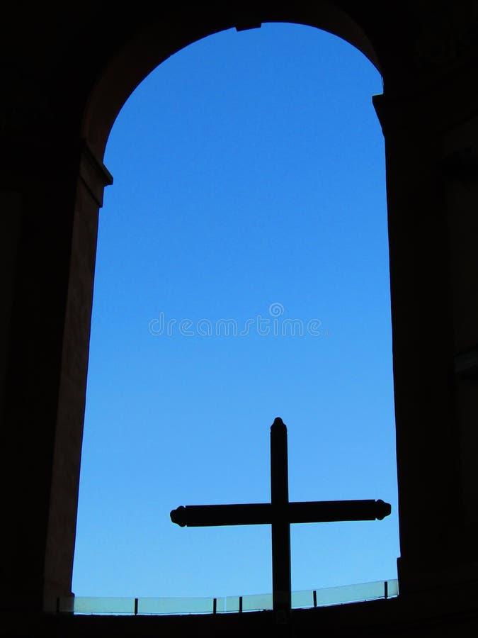Saint Luke& x27;s arcades in Bologna in Italy stock image