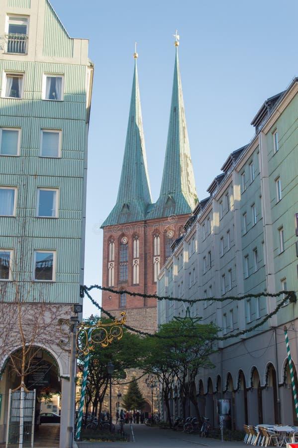Saint médiéval Nicholas Church à Berlin photo libre de droits
