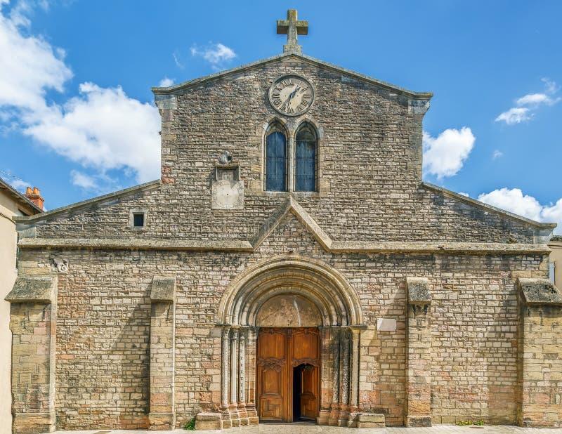 Saint Madeleine Church, Tournus, Frankrijk royalty-vrije stock fotografie