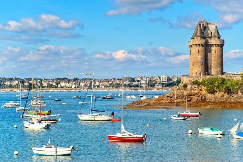 Saint Malo, Bretagne, Frankreich stockfotos