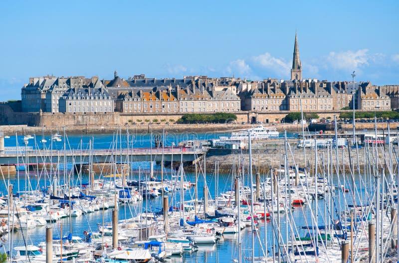 Saint Malo, Bretagne, Frankrijk stock afbeelding