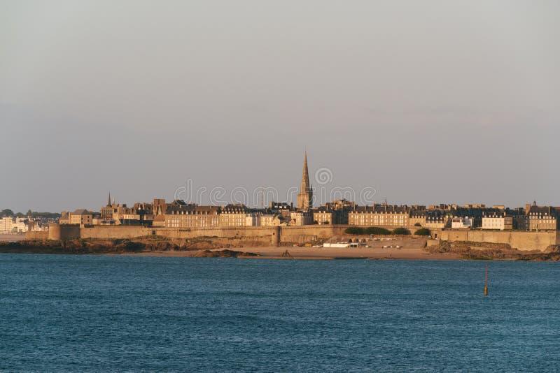 Saint Malo Brittany royaltyfri fotografi