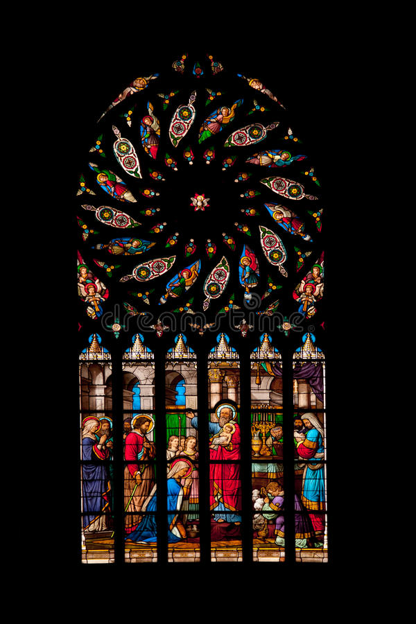Download Saint Malo church stock photo. Image of glass, history - 23129470