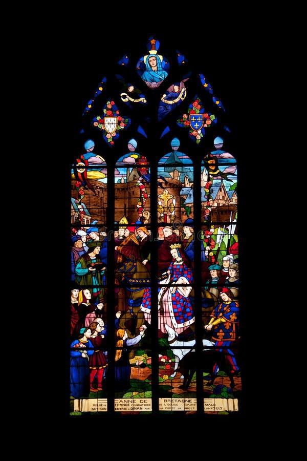 Saint Malo church stock image