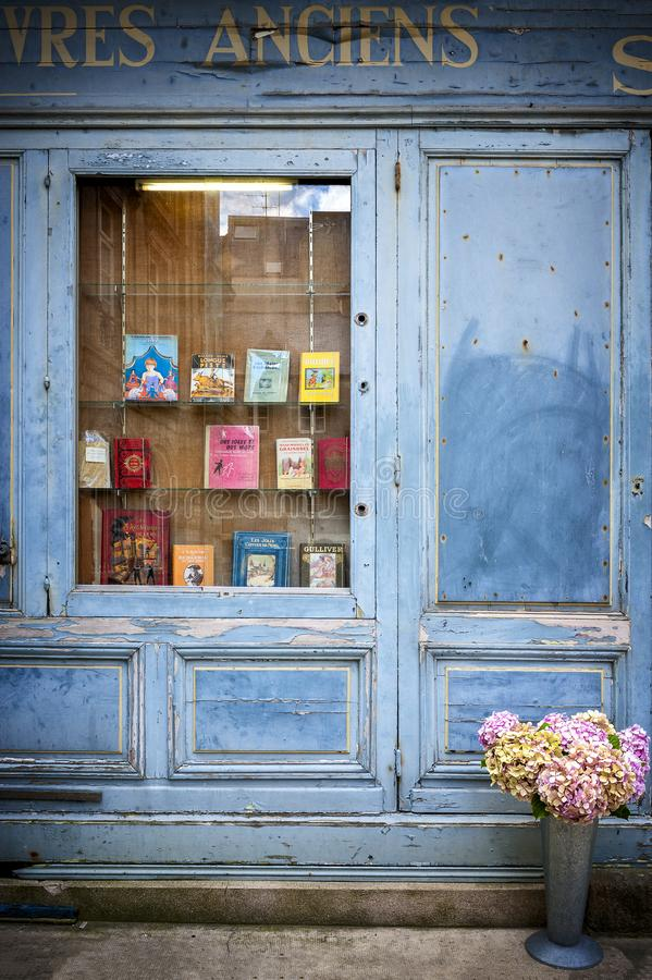 Free SAINT-MALO, FRANCE. Bookcase With Wooden Facade Of Ancient Books With A Retro Charm. Royalty Free Stock Image - 107172636