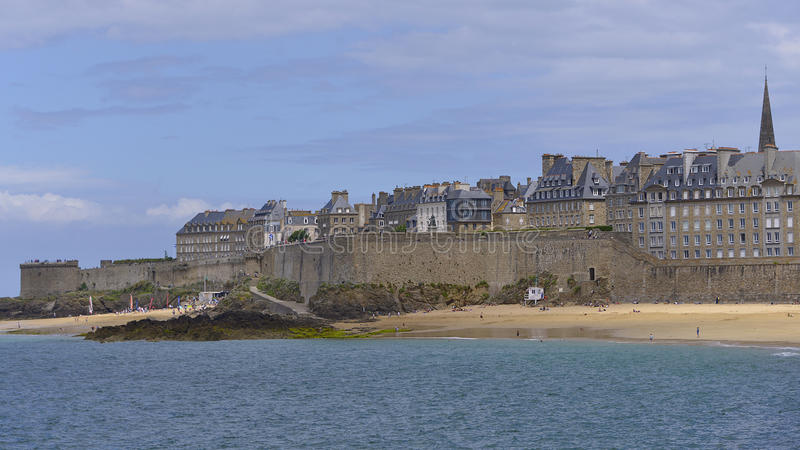 Saint Malo in Frankrijk royalty-vrije stock foto's