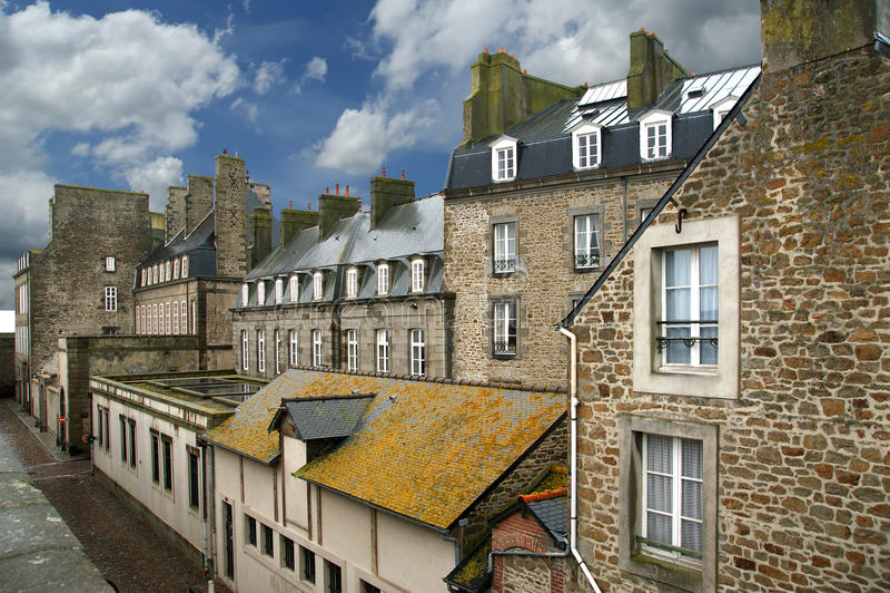 Saint Malo-- nordvästliga Frankrike arkivfoto