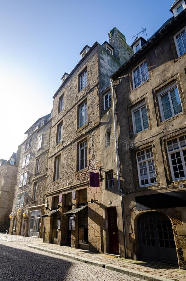 Saint-Malo, walled city in Brittany, France royalty free stock images