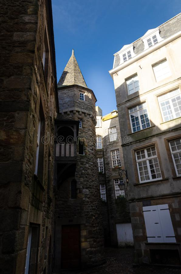 Saint-Malo, walled city in Brittany, France stock image