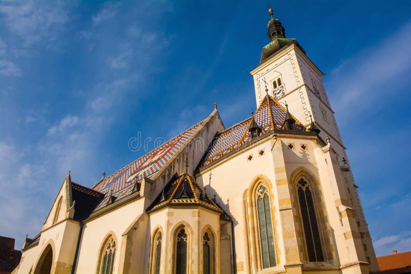 Saint marca a igreja em Zagreb imagem de stock
