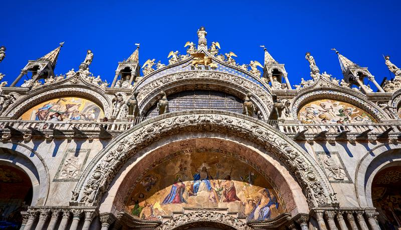 Saint Mark`s Basilica Piazza San Marco Venice Italy. Saint Mark`s Basilica,Piazza San Marco,Venice, Basilica,building,venetian,historic,venezia,church stock photo