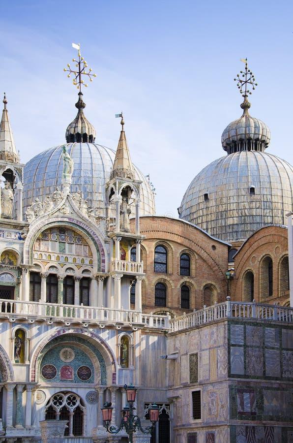 Saint Mark's Basilica in Venice, Italy stock photos