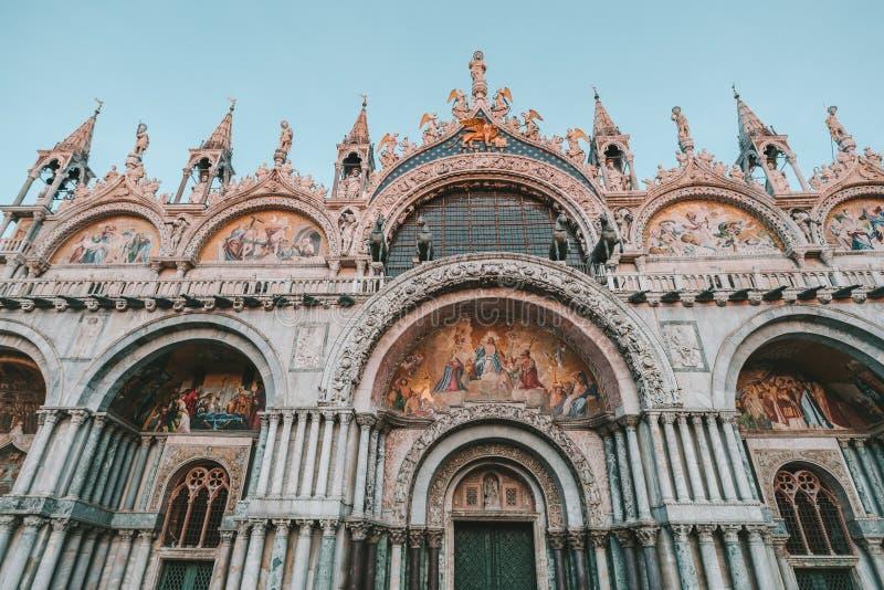 Saint Mark`s Basilica, Venice, Italy. Closeup view of Saint Mark`s Basilica, Venice, Italy stock images