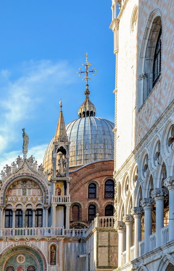 Saint Mark`s Basilica, Venice. Saint Mark`s Basilica Dome in Venice, Italy royalty free stock photo