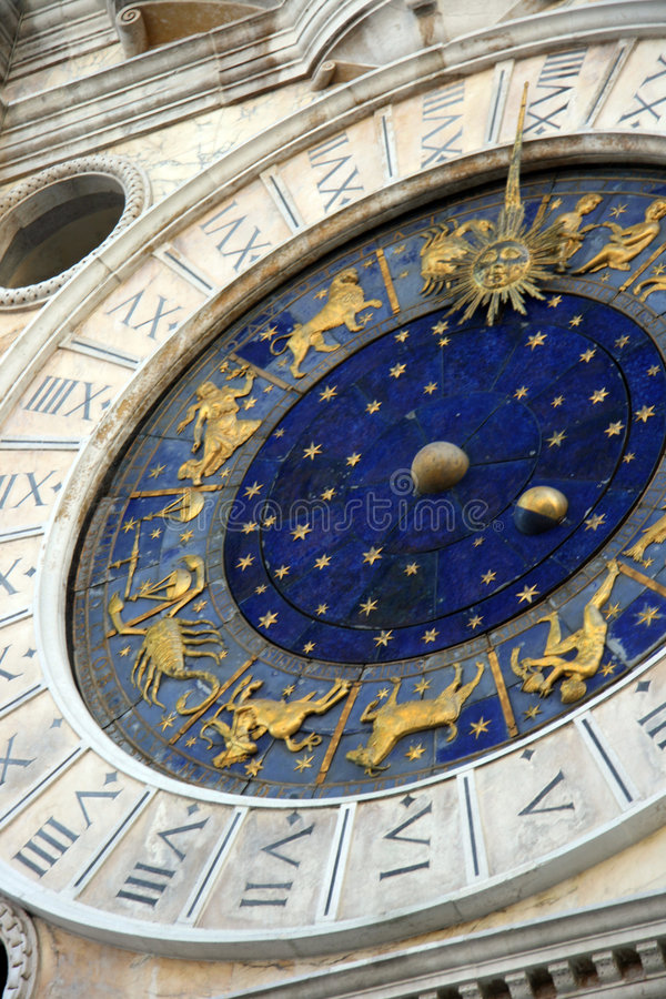 Saint Mark square clock tower royalty free stock images