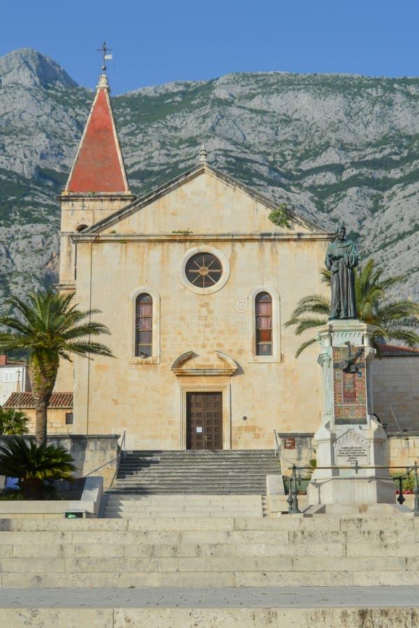 Saint Marka Cathedral in Makarska on June 9, 2019. stock photography
