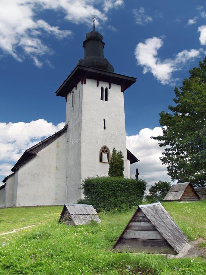 Saint Martin church in Martincek stock image