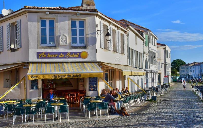 Saint Martin de Re, France - september 26 2016 : picturesque village in autumn stock image