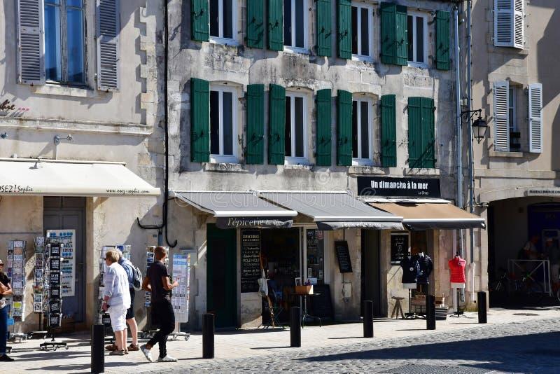 Saint Martin de Re, France - 25 septembre 2016 : vil pittoresque photo stock