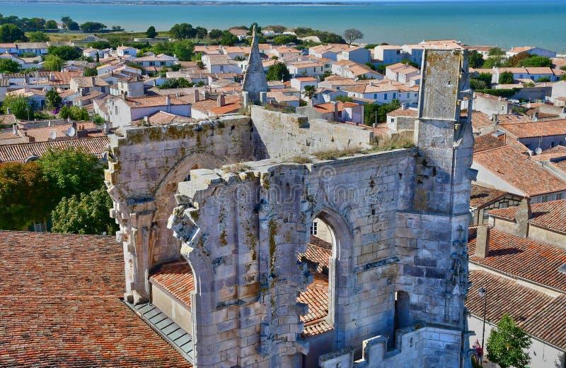 Saint Martin de Re, France - 25 septembre 2016 : vil pittoresque images stock