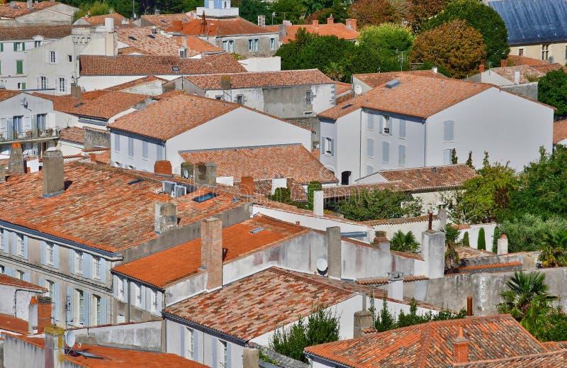Saint Martin de Re, France - 25 septembre 2016 : vil pittoresque image libre de droits