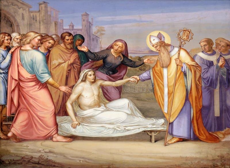 Saint Martin des visites ressuscitent un jeune homme photo libre de droits