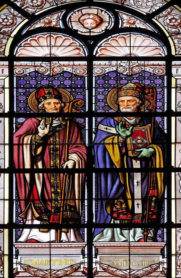 Saint Martin e St Ambrose immagini stock