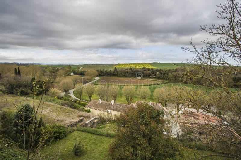 Saint-Martin-le-Vieil, França fotografia de stock