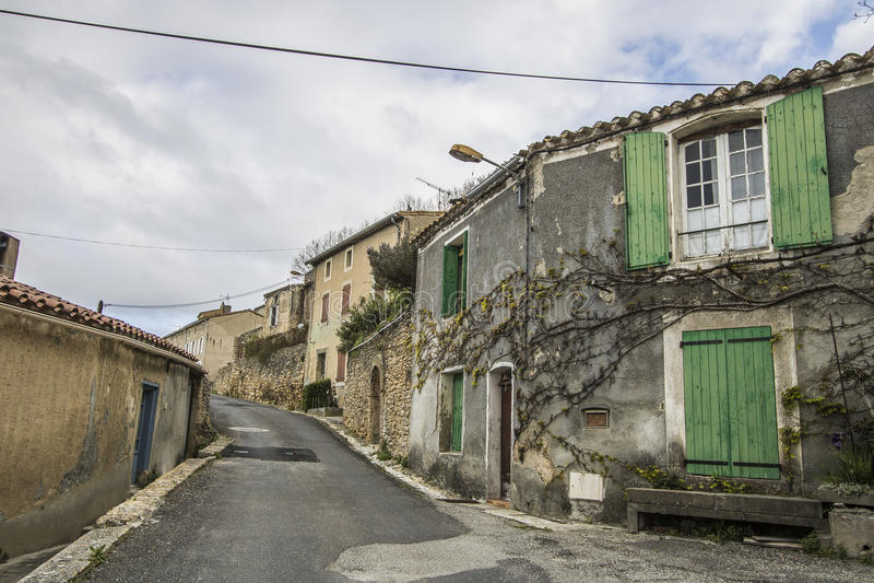 Saint-Martin-le-Vieil, França fotografia de stock royalty free