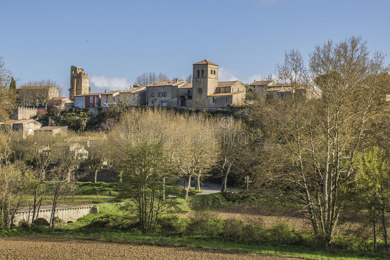 Saint Martin le Vieil, França fotografia de stock royalty free