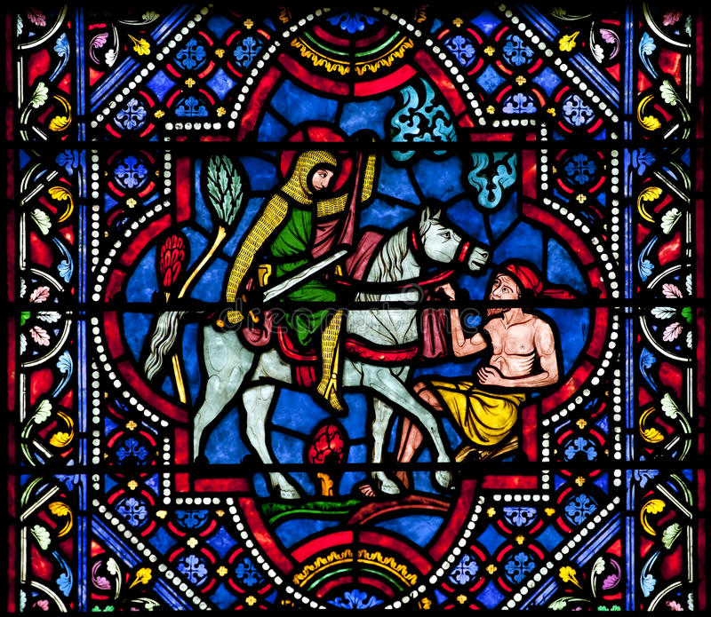 Download Saint Martin Of Tours Stained Glass Stock Photo - Image: 27248132