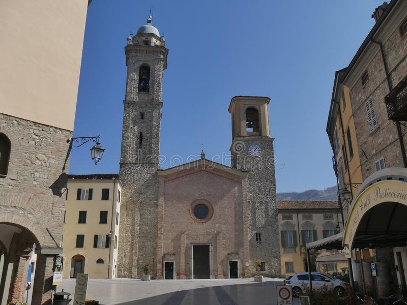 Saint Mary Cathedral in Bobbio. stock photos