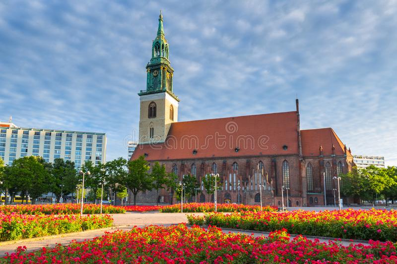 Saint Mary church in Berlin, Germany stock photos
