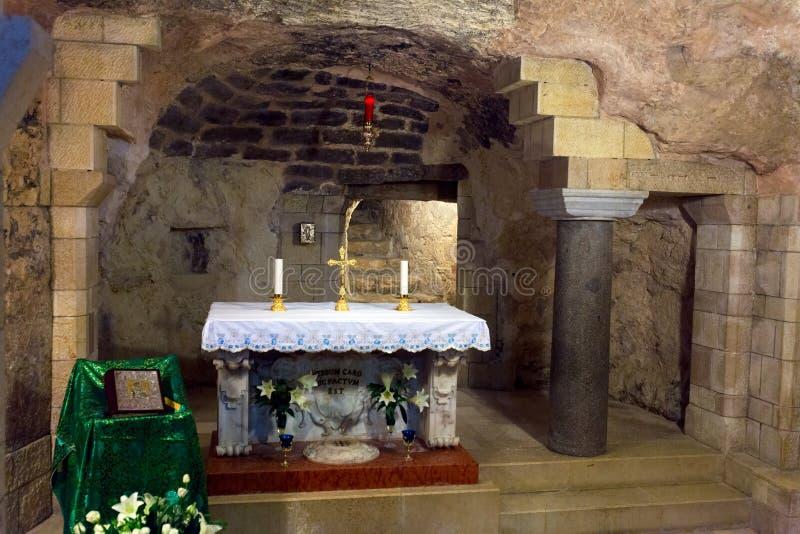 Saint Mary Grotto da catedral do aviso fotografia de stock royalty free