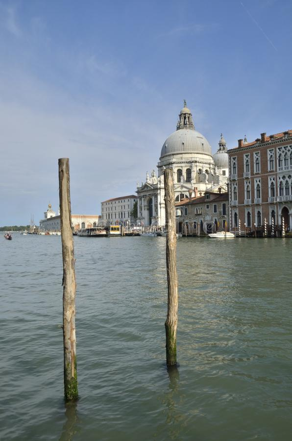 Saint Mary of Health at the Grand canal royalty free stock photos