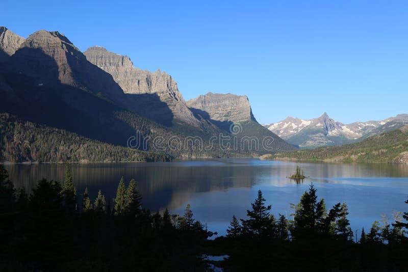 Saint Mary Lake de parc national de glacier photos libres de droits
