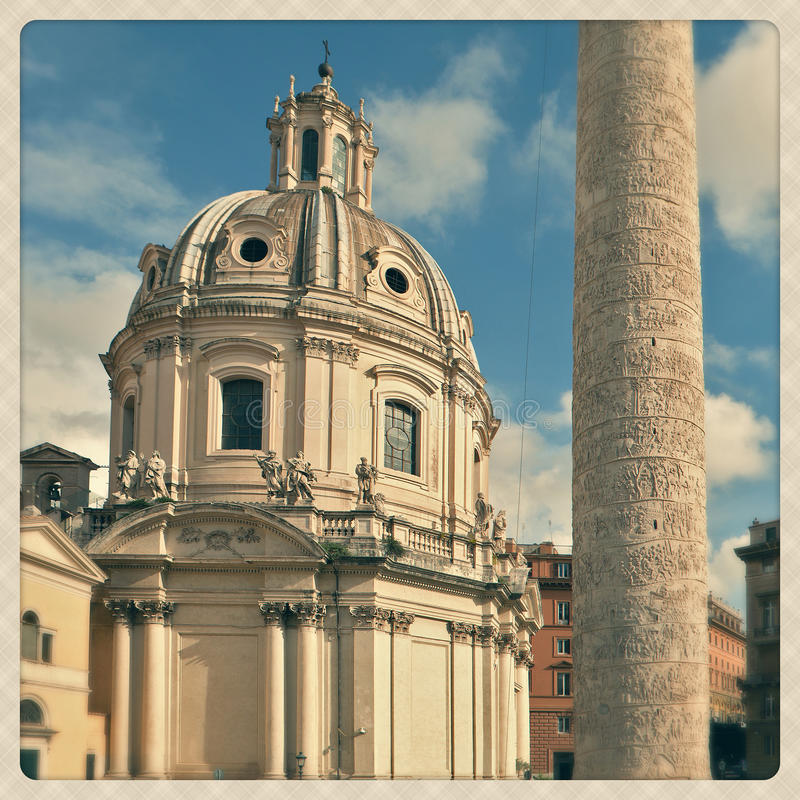 Download Saint Mary of Loreto stock image. Image of effect, building - 27824221