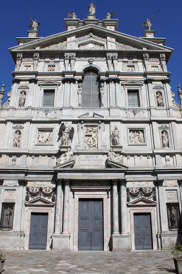 Saint Mary over St. Celso church stock images