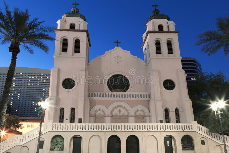 Saint Mary`s Basilica in Phoenix Arizona royalty free stock photo
