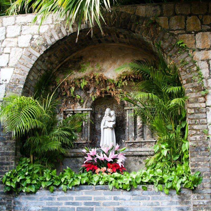 Saint Mary Statue imagem de stock