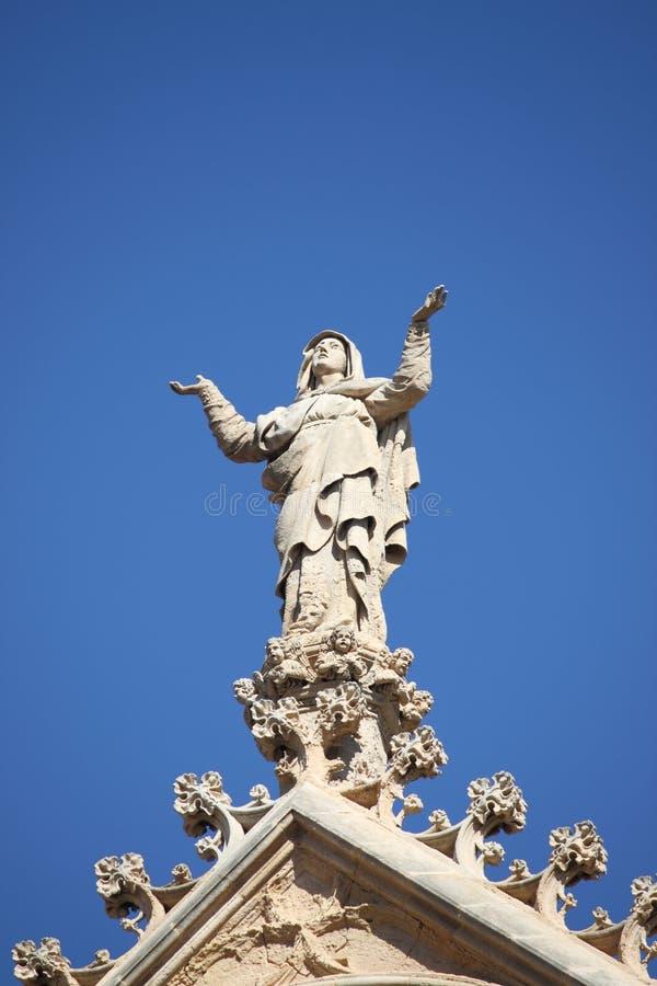 Saint Mary statue stock image