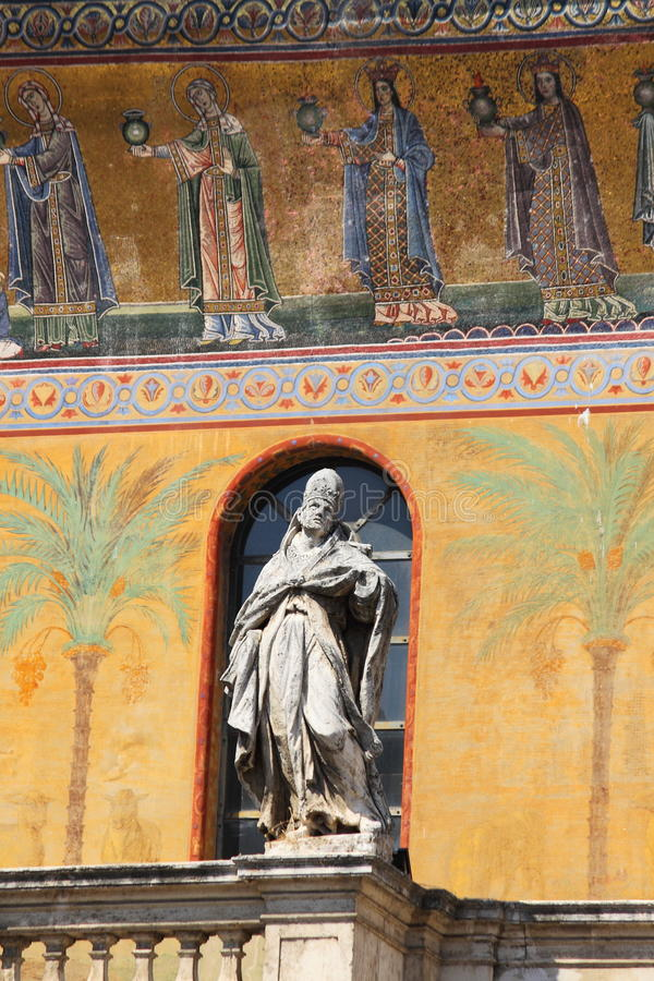 Saint Mary in Trastevere church stock images