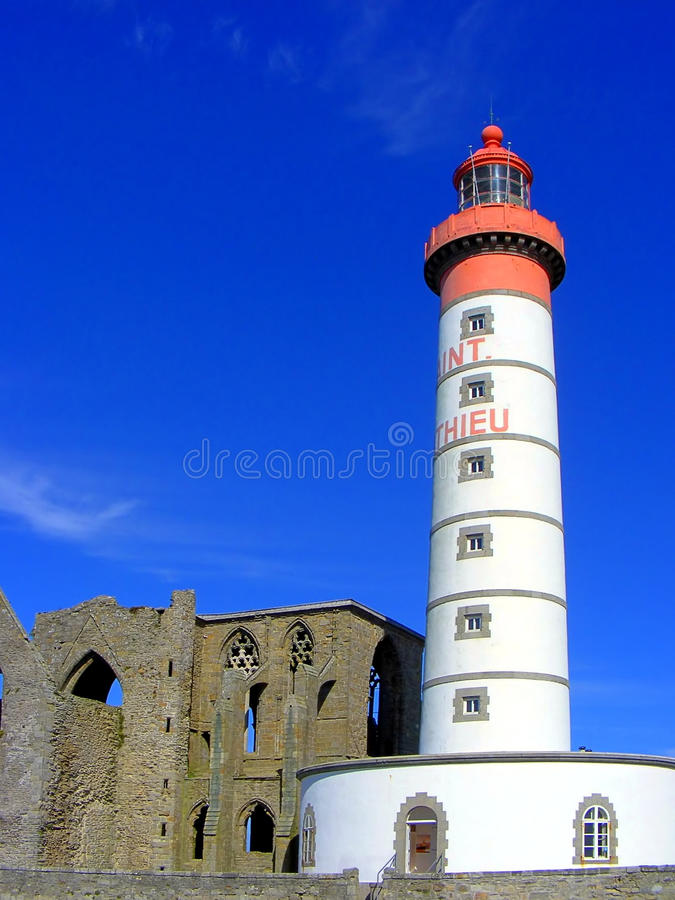Saint Mathieu lighthouse stock photos
