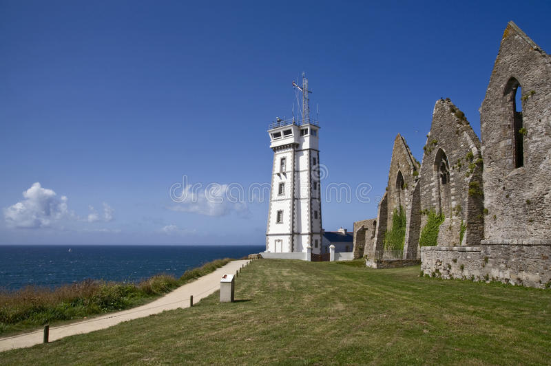 Saint Mathieu Lighthouse In Britain Stock Photo