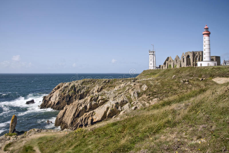 Download Saint Mathieu Lighthouse In Britain Royalty Free Stock Photography - Image: 25721247