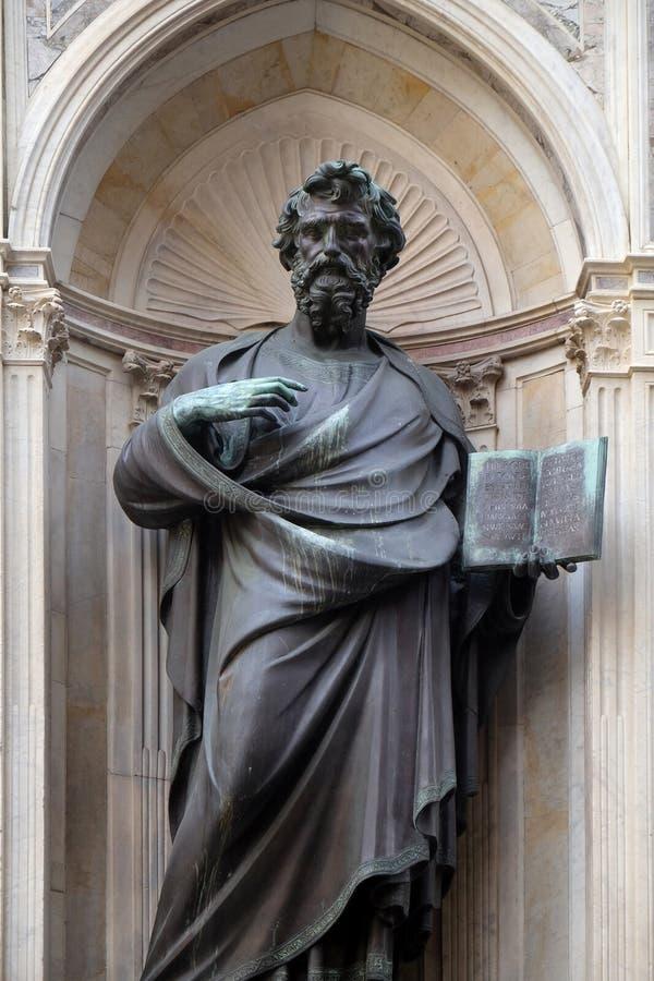 Saint Matthew the Evangelist by Lorenzo Ghiberti, Orsanmichele Church in Florence. Tuscany, Italy stock photos