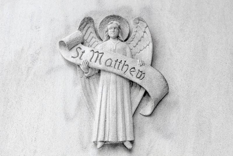 Saint Matthew Religious Symbols image stock