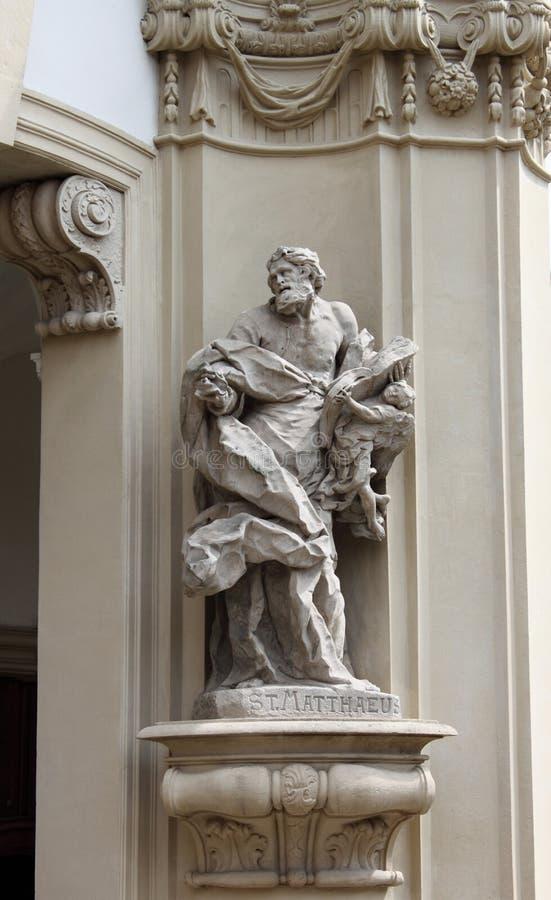 Saint Matthew statue stock photos