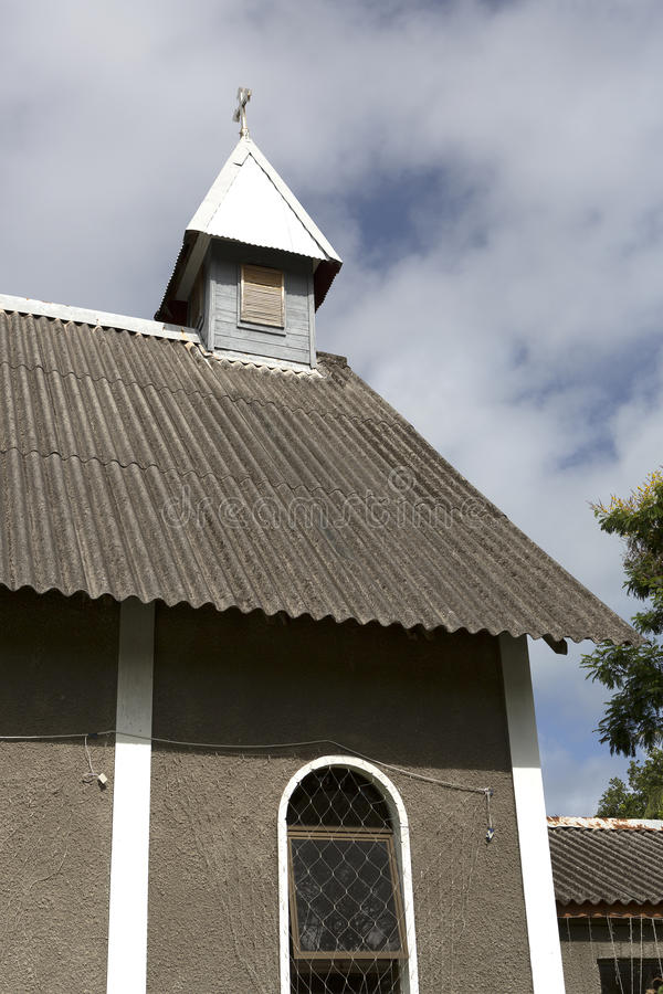 Saint Matthews church, Praslin island. Seychelles stock photography